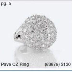Lia Sophia Pave CZ Ring